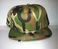 Vtg Camo Camouflage Snapback hat cap rare 90s Bape BBC milo rare army og duck