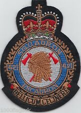 No. 421 Squadron Royal Canadian Air Force RCAF Embroidered Crest Badge Patch