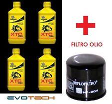 4 LT OLIO BARDHAL XTC C60 10W40 SINTETICO + FILTRO OLIO DUCATI MONSTER DARK 600