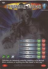 """Doctor Who Battles In Time Exterminator - Rare """"Cyberman Attack"""" Card #181"""