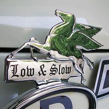 El aclaramiento Cromo Pegasus bajo & lento Licencia Topper Mobil Oil Hot Rod Vw CLE105