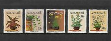 ST HELENA 1993 Flowers, 1st series, mint set of 5, MNH MUH