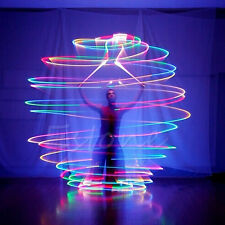 Pro LED Multi-Coloured Glow POI Thrown Balls Light  For Belly Dance Hand Props