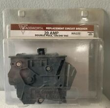 New Wadsworth Circuit Breaker Double Pole 20 Amp WA-220