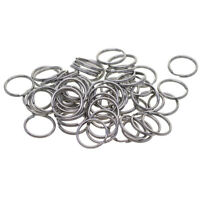 100x Mini Split Ring 15mm Keyring Hook Loop Accessories for Keychain Jewelry
