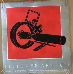Fletcher Benton Balanced Unbalanced C Original Vintage Poster Signed Litho 1981