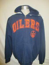 Edmonton Oilers Men's Large Full-Zip Graphic Hoodie NHL Blue A12M