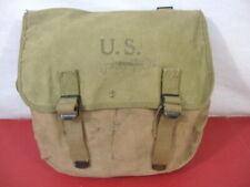 WWII Era US Army/USMC M1936 Canvas Musette Bag or Pack Khaki Color - Dated 1943