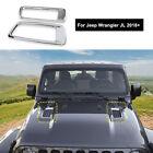 Pair Exterior Engine Hood Vents Cover Auto Parts Chrome For Jeep Wrangler Jl 18+