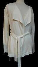 A Pea in the Pod White Maternity Self Tie Linen & Cotton Sweater Size Small