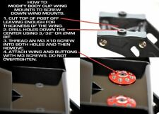Exotek Racing - 1/8 Buggy Xl Wing Buttons, 22mm (2), Black