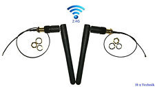 2 Sets -2.4G 3dBi Ant.& 20cm IPEX4 to SMA Pigtail Cable e.g.WiFi(WLAN)/Bluetooth