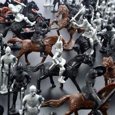 28 Pièces Médiéval Chevaliers Guerriers Chevaux Soldats Figurines Modèle