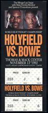 Vintage Evander Holyfield vs. Riddick Bowe Championship Boxing Fight Full Ticket