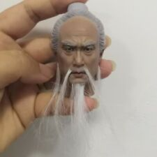 "1/6 Scale Lord Lao Zi Ancient Male Head Sculpt For 12"" Figure Body Model Toy New"