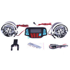 Motorcycle Alarm Audio Sound System Stereo Speakers Fm Radio Mp3 Music Play E9W3