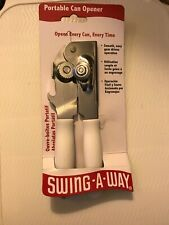 New listing Swing A-Way Portable Can Bottle Opener Steel White Manual Hand Away 407Wh New!