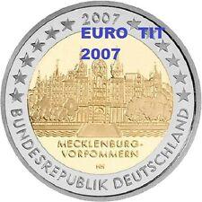 2  €   ALLEMAGNE    1   x   PIECE  NEUVE   SCHWERIN     2007   /    ASSEZ  RARE