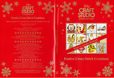 MY CRAFT STUDIO FESTIVE CROSS STITCH CREATIONS & Christmas Papercrafting CD