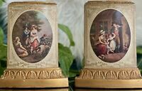 Borghese Vintage Italian Bookends Italy Figure Scene French  Neoclassical Style