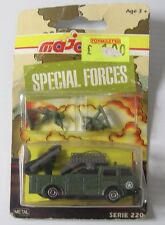 VINTAGE Majorette Series 200 Special Forces Tank Rocker Launcher & Figures