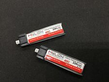 2pcs 220mAh 3.7V 45C Li-Polymer Lipo Battery Molex52001 Connector MY001-220-42