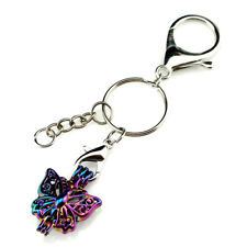 Key Chains Keychain Silver Plated Key Ring Clasp with Butterfly Bead Cage Y701