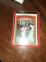 1972 Topps #222 Brooks Robinson -Baltimore Orioles 1971 AL Playoffs Champs! HOF