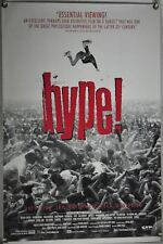 HYPE! ROLLED ORIG 1SH MOVIE POSTER SEATTLE GRUNGE DOCU NIRVANA MELVINS (1996)