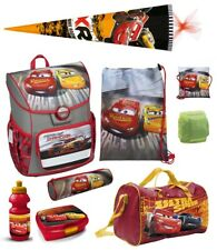 Jungen Schulranzen 10tlg. Set 1. Klasse mit Sporttasche Schultüte Cars Auto rot