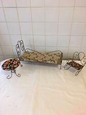 Meuble De Poupée Tressy bella Lit Chaise Table 70 Meuble Motif Fleurs Barbie