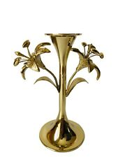 Pottery Barn Monique Lhuillier 2 X Lara Taper Candle Stick Holders Gold Tone S