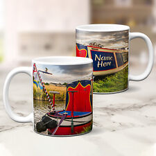 Personalised Narrowboat Mug Canal Barge Cup Birthday Fathers Day Custom Gift