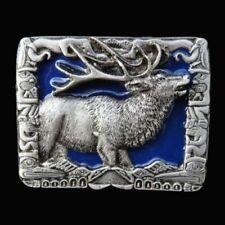 Game Belt Buckles Boucle de Ceinture Deer Hunter Hunters Hunting Wild Caribou