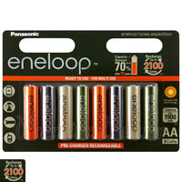 8 x Panasonic Eneloop AA batteries 1900 mAh Rechargeable Ni-MH Expedition Accu