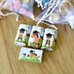 54 Cowboy Mini Candy Wrappers, Cowboy Graduation  Wrappers