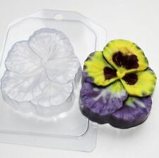 """""""Pansy"""" flower plastic soap mold soap making mold mould"""