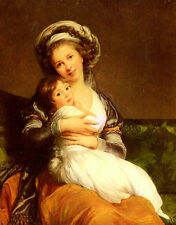 Oil Vigee Lebrun Elisabeth Louise Madame Vigee Lebrun Et Sa Fille Hand painted