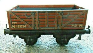 Trix Twin Railway (TTR)  ex-LNER 5-plank open wagon. OO gauge tinplate model