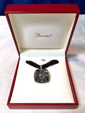 Baccarat Pendant Medicis Crystal black Mordorè vitrail- 602257 - Silver - NEW