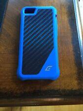 ELEMENT CASE IPHONE  5/5S/SE ION Blue New & 3 Tech Armor HD Screen Protectors