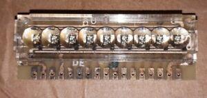 Vintage calculator LED 9-digit bubble display board  circa 1970's