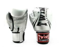Twins TW6 Boxing Gloves Silver Black Kickboxing Muay Thai Sparring Training