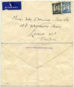 SOUTHERN RHODESIA GATHS MINE MASHAVA 1944 AIRMAIL