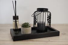 Tablett Schale Parfum Kerze Aufbewahrung Organizer Dekoration schwarz