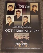 WESTLIFE - Obvious - Album Promotional Poster *RARE*