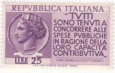 1954 PROPAGANDA PER LA DENUNCIA DEL REDDITO ** L 25 ITA
