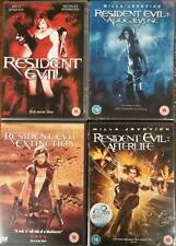 RESIDENT EVIL QUADRILOGY 1,2,3,4 Apocalypse*Extinction*Afterlife Zombie DVD *EXC