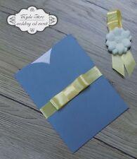 Partecipazioni Matrimonio Azzurro : Partecipazioni gialli per il matrimonio acquisti online su ebay