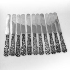 St Cloud Breakfast Knives Set of 5 Sterling Silver Gorham Silversmiths 1885